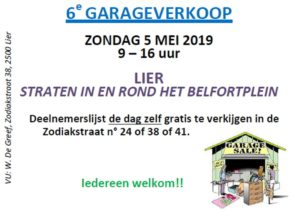 Garageverkoop in de straten in & rond het Belfortplein in LIER