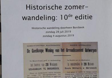 Tiende historische wandeling van DocC-Borsbeek rond wonen en werken