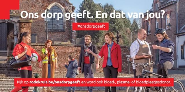 Rode Kruis-Vlaanderen streeft naar 4% donerende Vlamingen met campagne 'Ons dorp geeft'