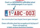 Deponeer je te schrappen kentekenplaat in een verzamelbox bij de politiezone Hekla