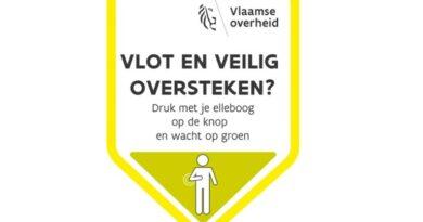 Stad Antwerpen maakt drukknoppen aan verkeerslichten 'elleboogvriendelijk'